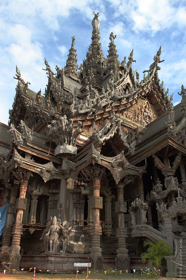 Храм Истины, Sanctuary of Truth, Wang Boran, Pattaya, Паттайя