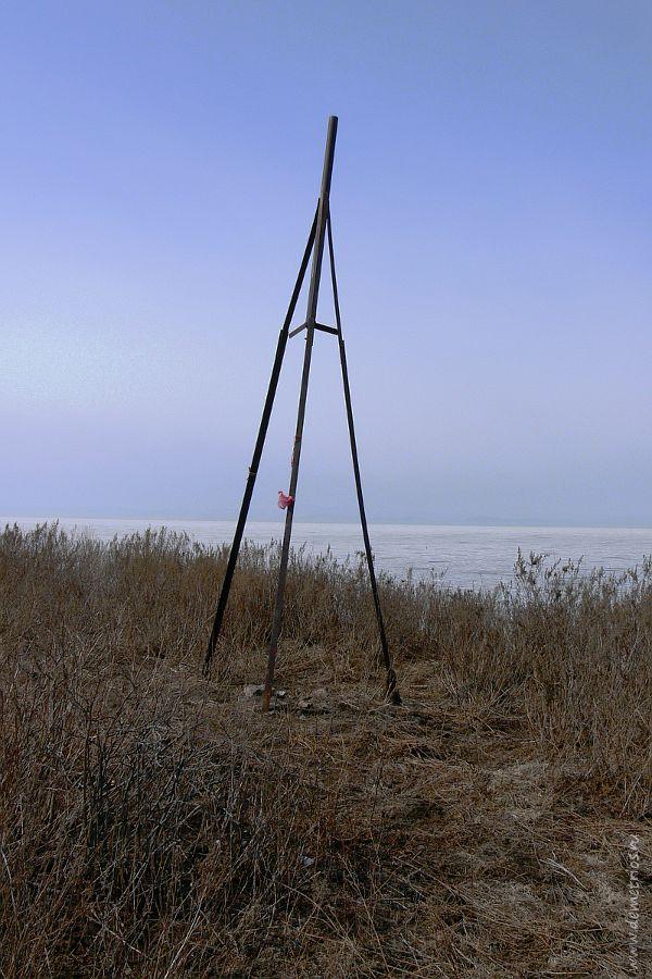 Тренога на острове Скребцова (Коврижке)