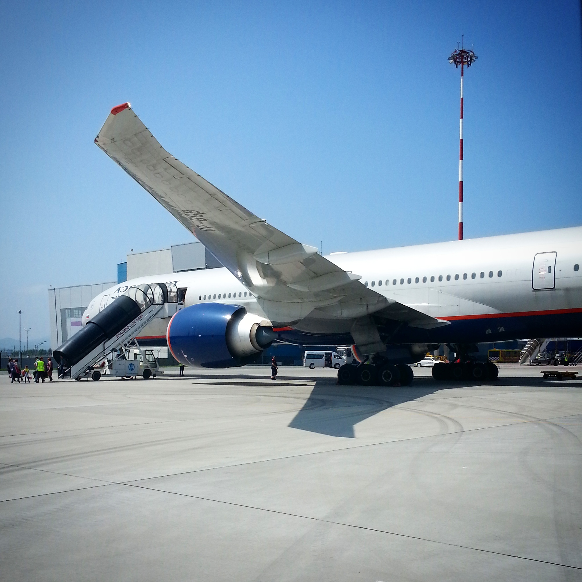 Aeroflot B777 at Vladivostok International Airport