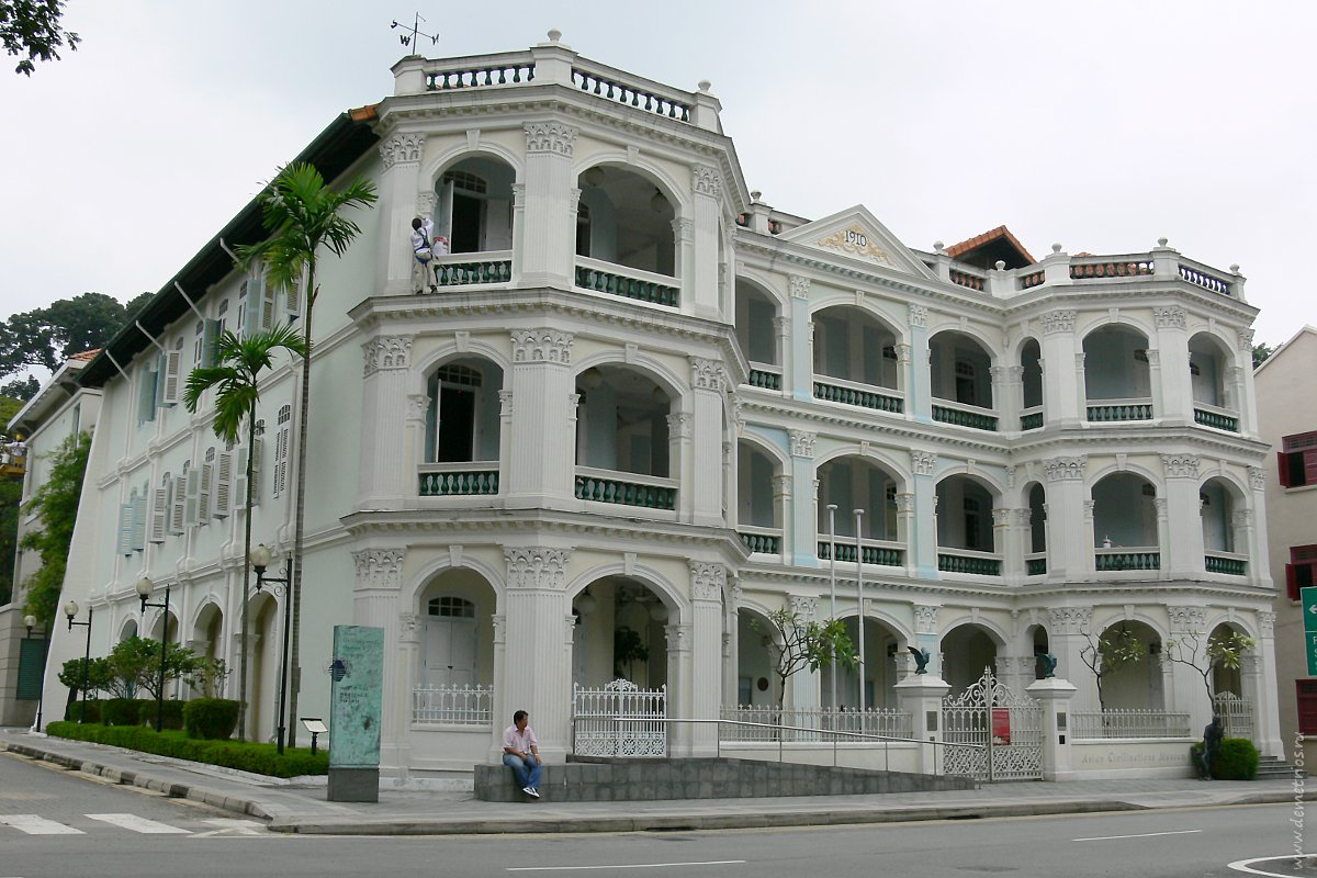 Старые здания в Сингапуре. Old buildings in Singapore