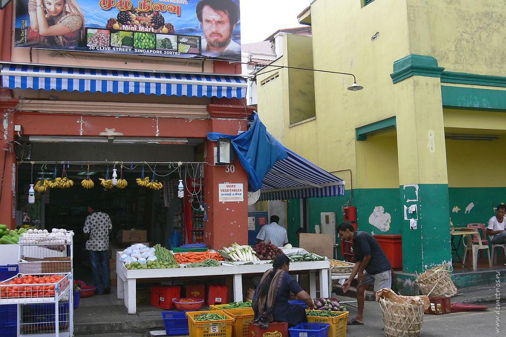 Сингапур. Маленькая Индия. Уличная торговля. Singapore. Little India. Food
