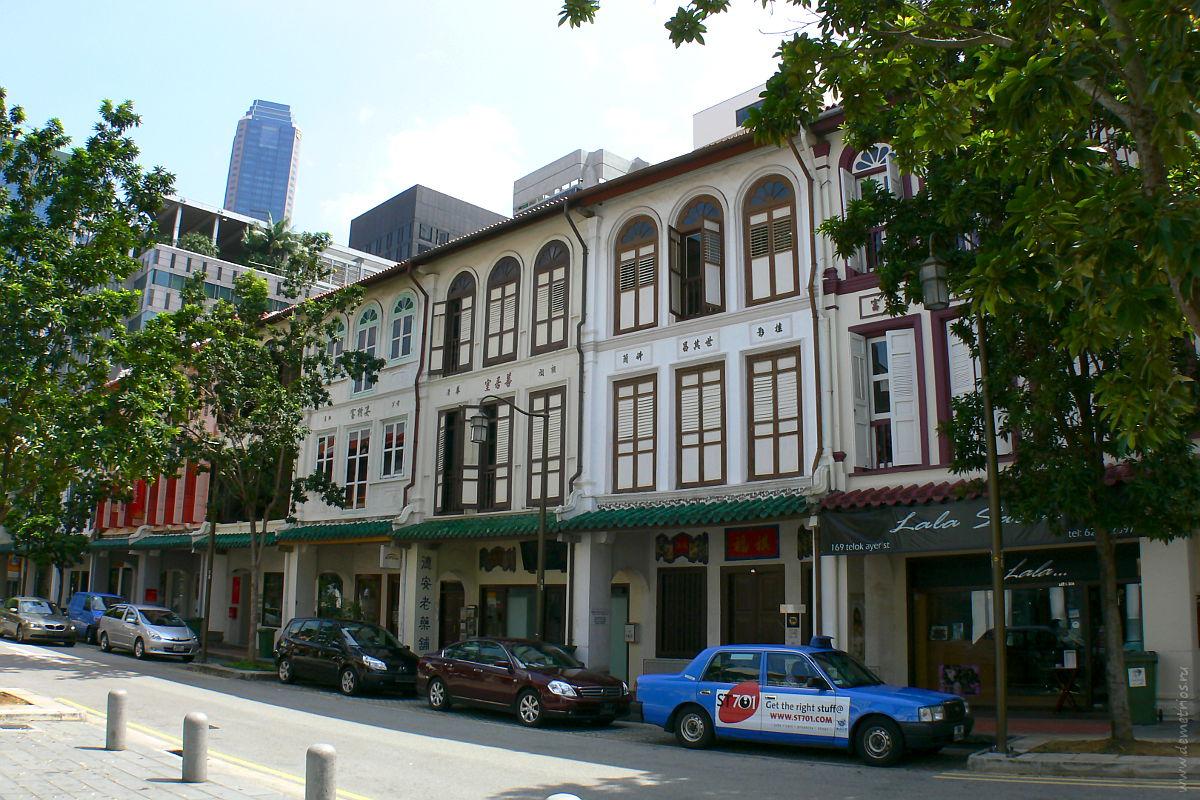 Сингапур. Улицы чайнатауна. Singapore. Chinatown street