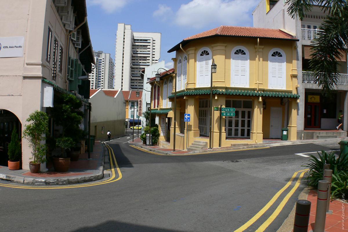 Сингапур. Чайнатаун. Singapore Chinatown.Club Street