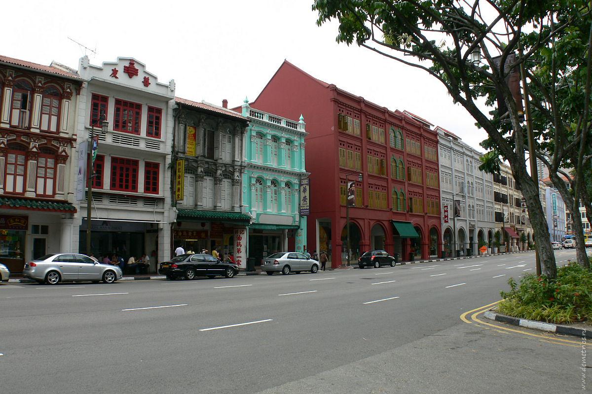 Сингапур. Чайнатаун. Пряничные домики. Singapore Chinatown. Cute houses