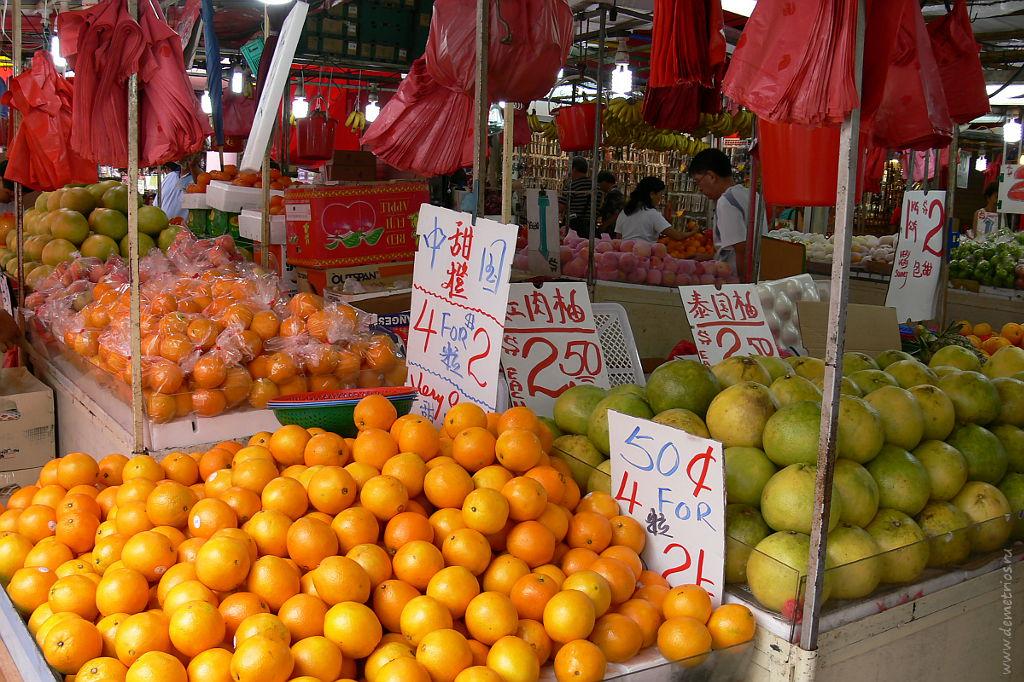 Базар в Сингапуре. Singapore market