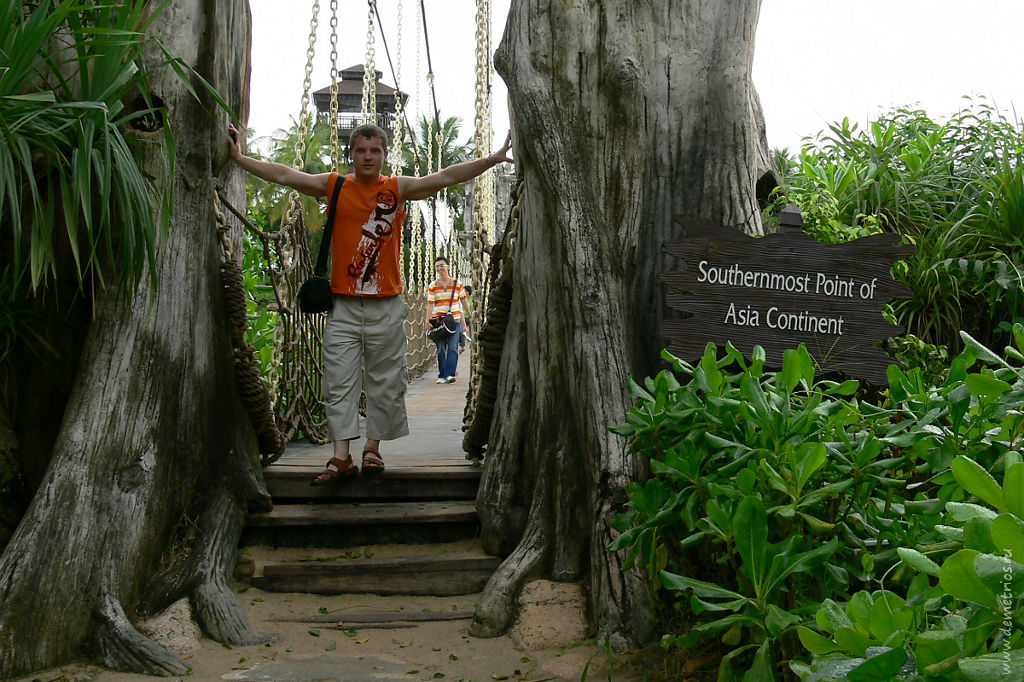 Сингапур. Сентоза. Самая южная точка Азиатского континента. Singapore. Sentosa. The Southernmost Point of Asia Continent