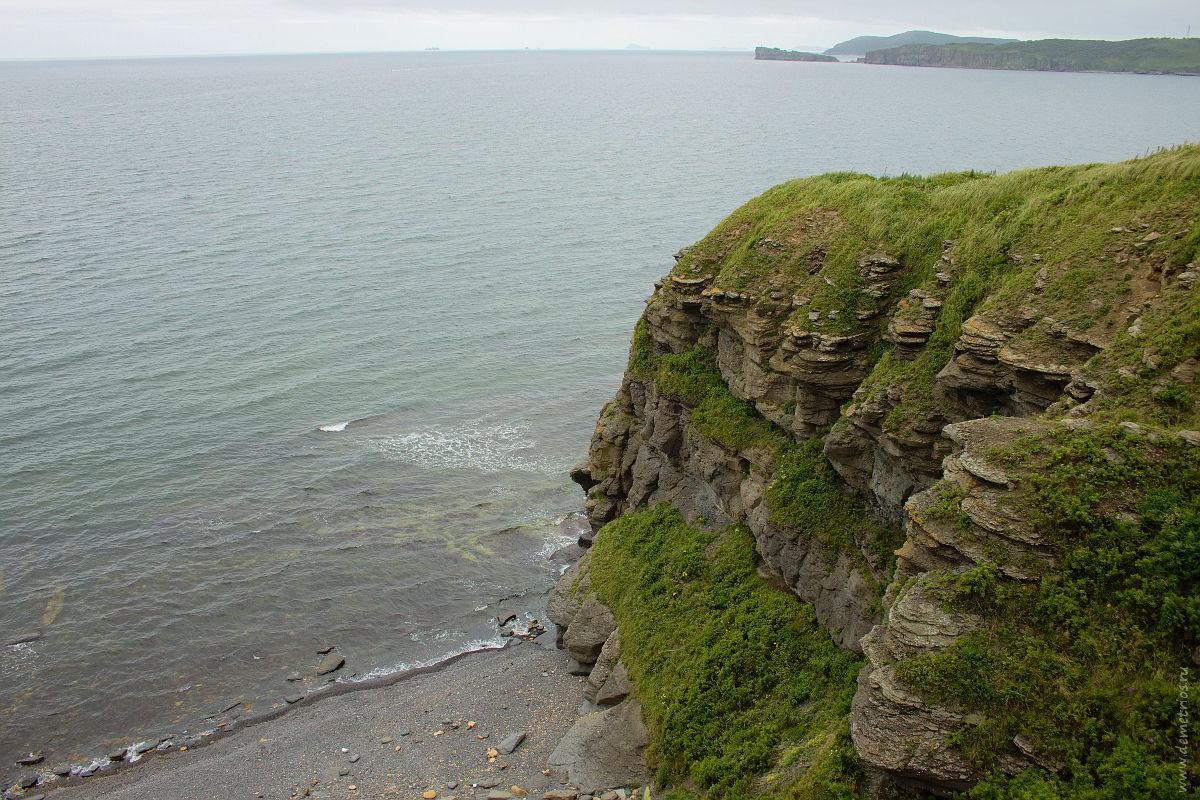 Мыс Вятлина, остров Русский. Vyatlin Cape, Russkiy Island