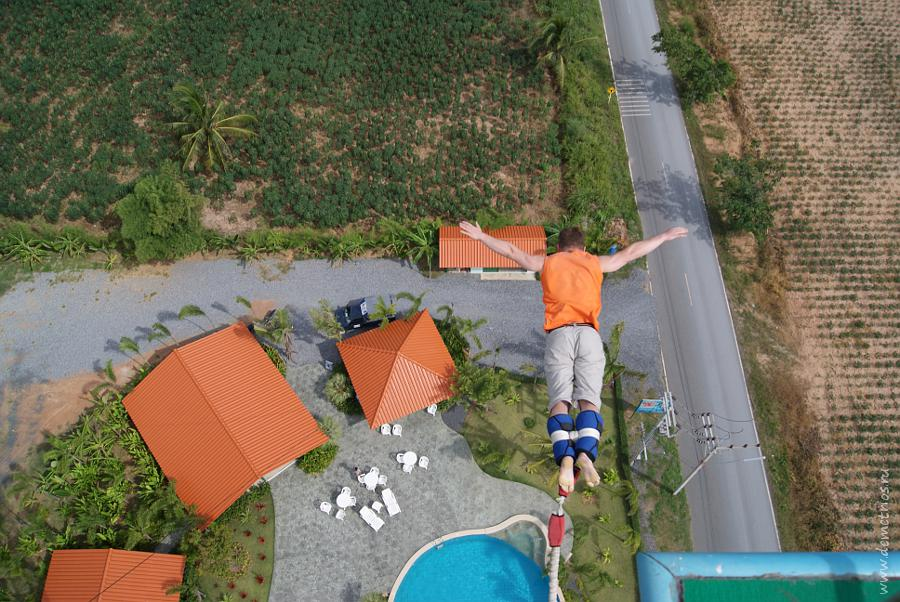 Pattaya Bungy Jump Тарзанка 50 метров