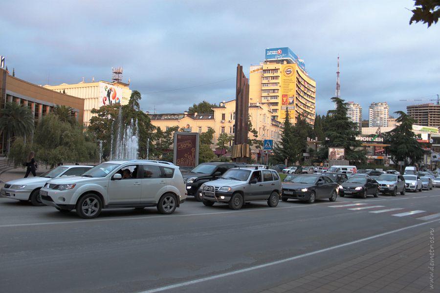 Автомобильные пробки в Сочи