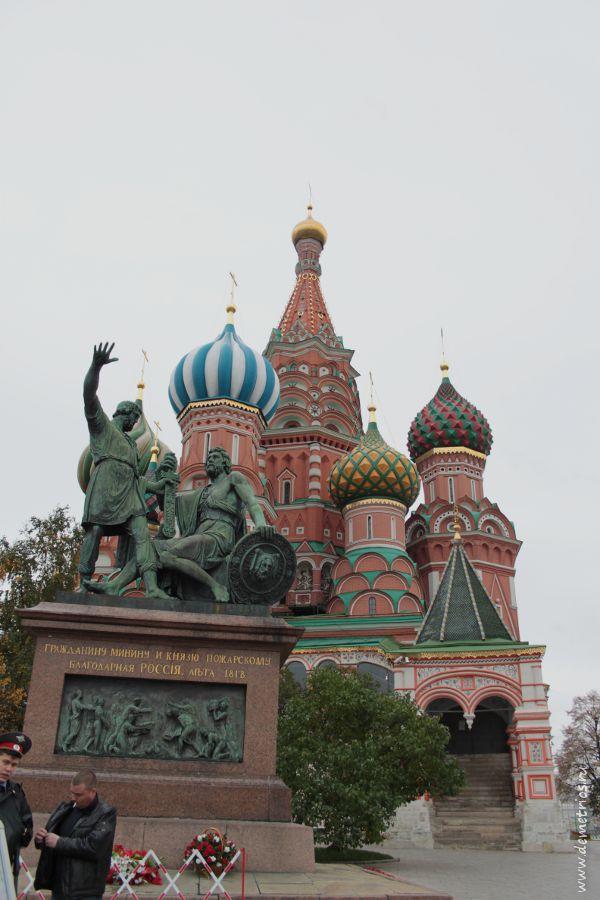 Храм Василия Блаженного, Красная Площадь, Памятник Минину и Пожарскому, Москва