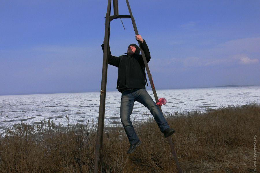 Тренога на острове Скребцова (Коврижке) и акробатика