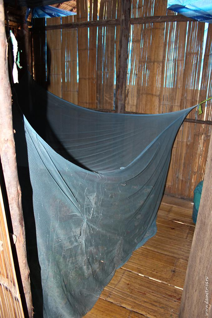 Чианг-Май. Дом в Long Neck Village. Противомоскитная сетка в детской комнате