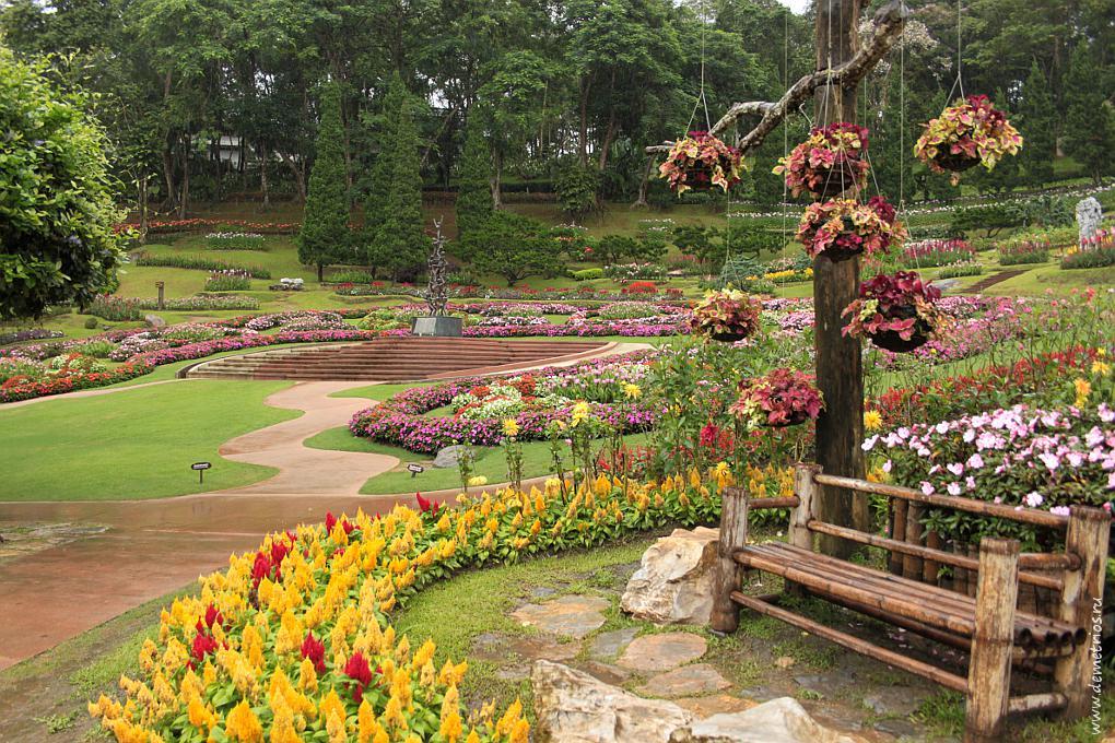 Чианг-Рай. Королевская вилла Дой Тунг (Doi Tung). Парк