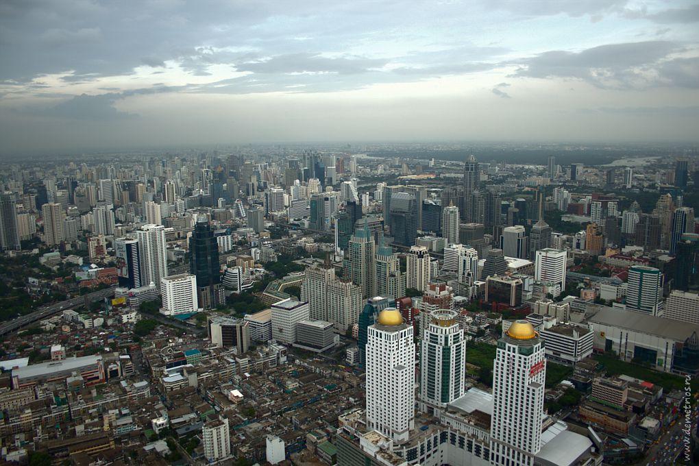 Бангкок с видовой площадки на Baiyoke Sky Tower