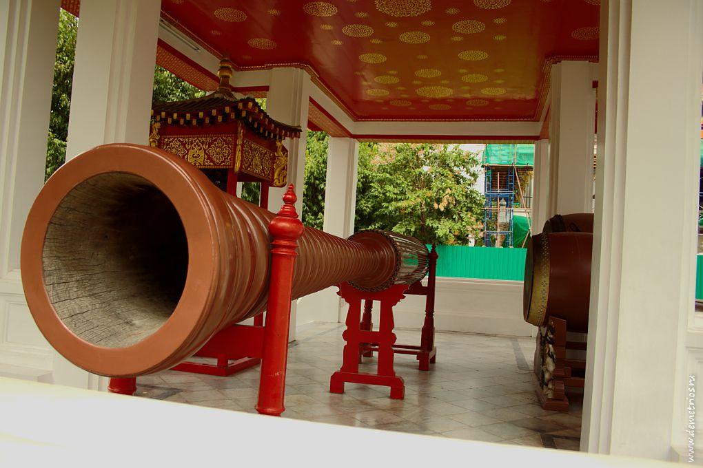 Музыкальные инструменты, Мраморный Храм (Wat Benchamabaphit), Бангкок