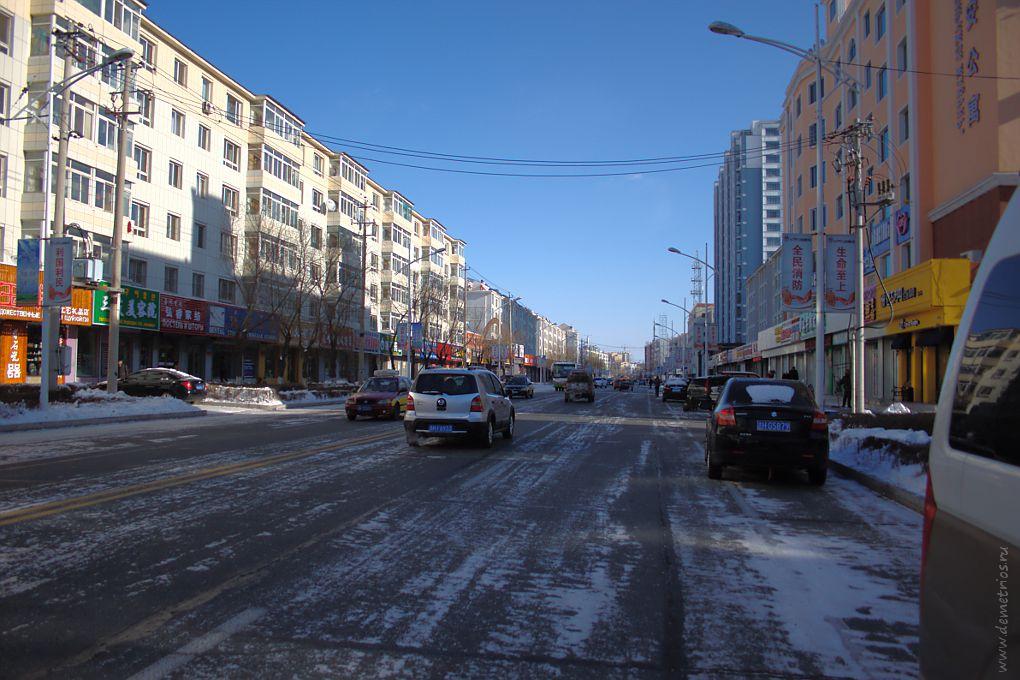 Одна из улиц Хуньчуня