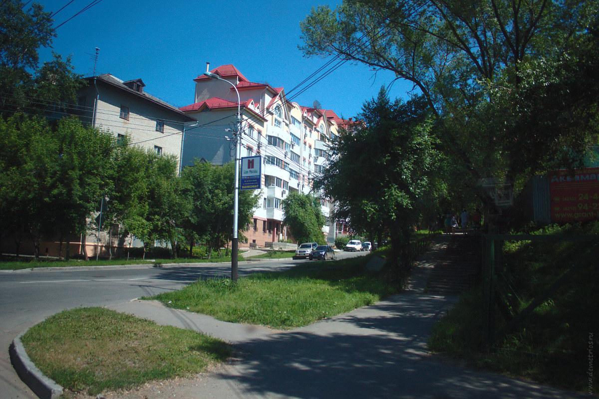 Одна из улиц Хабаровска