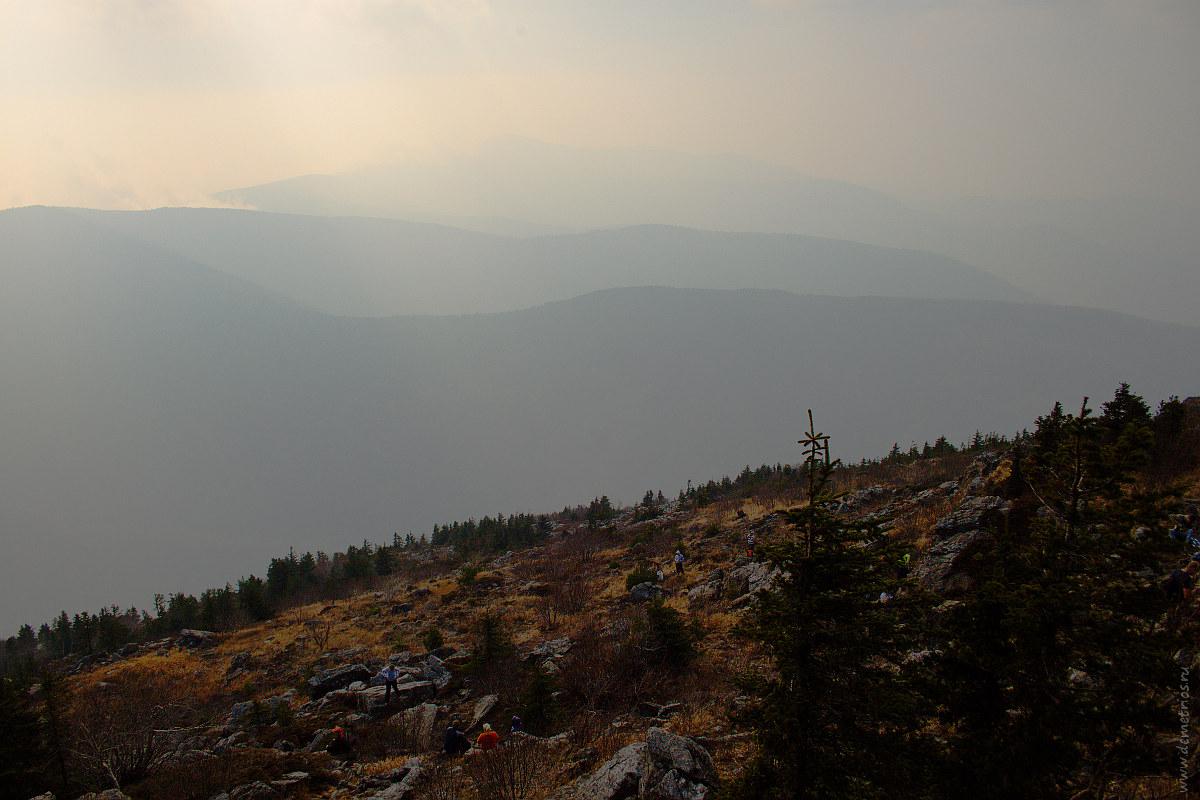 Вид с вершины Фалазы. View from the top of Falaza mountain