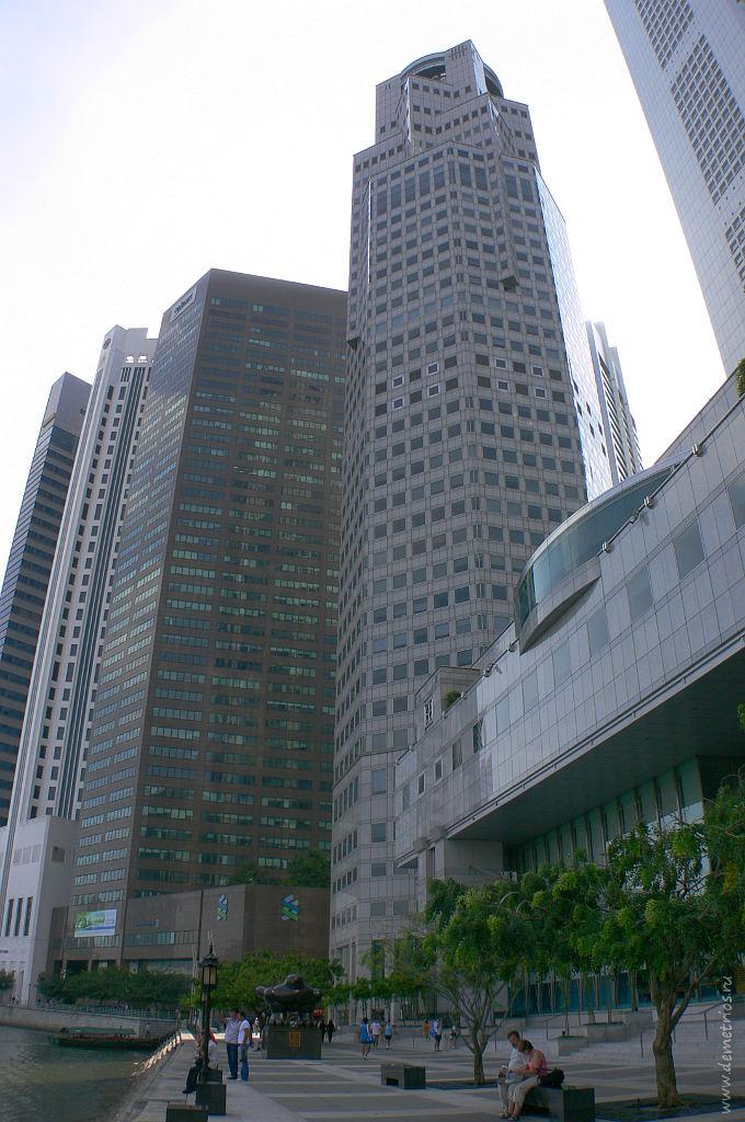 Сингапур. Лодочная набережная, Singapore Boat Quay
