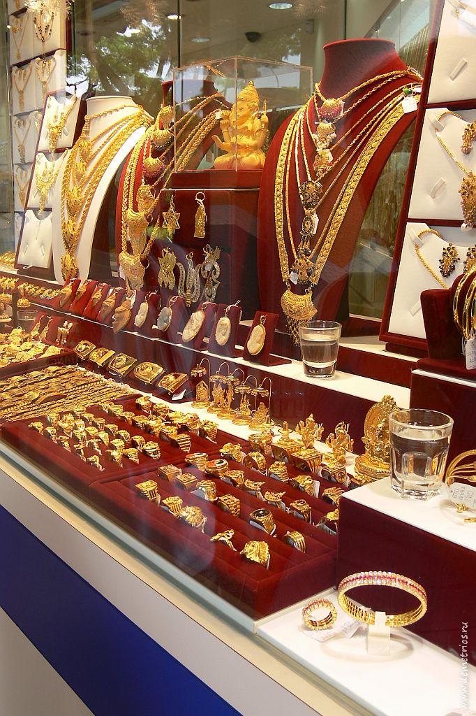 Золотые изделия в Little India, Сингапур, Gold, Singapore