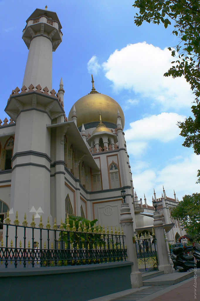 Сингапур. Мечеть Султана Хуссейна, Singapore The Masjid Sultan (Sultan Mosque)