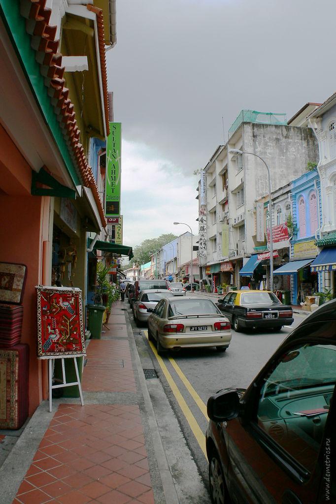 Сингапур. Торговые ряды в арабском квартале. Singapore. Street markets in Arab Street