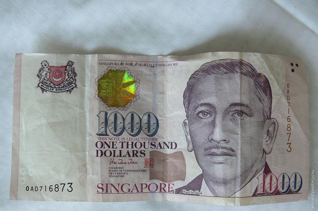 1000 Сингапурских долларов. 1000 Singaporean dollar