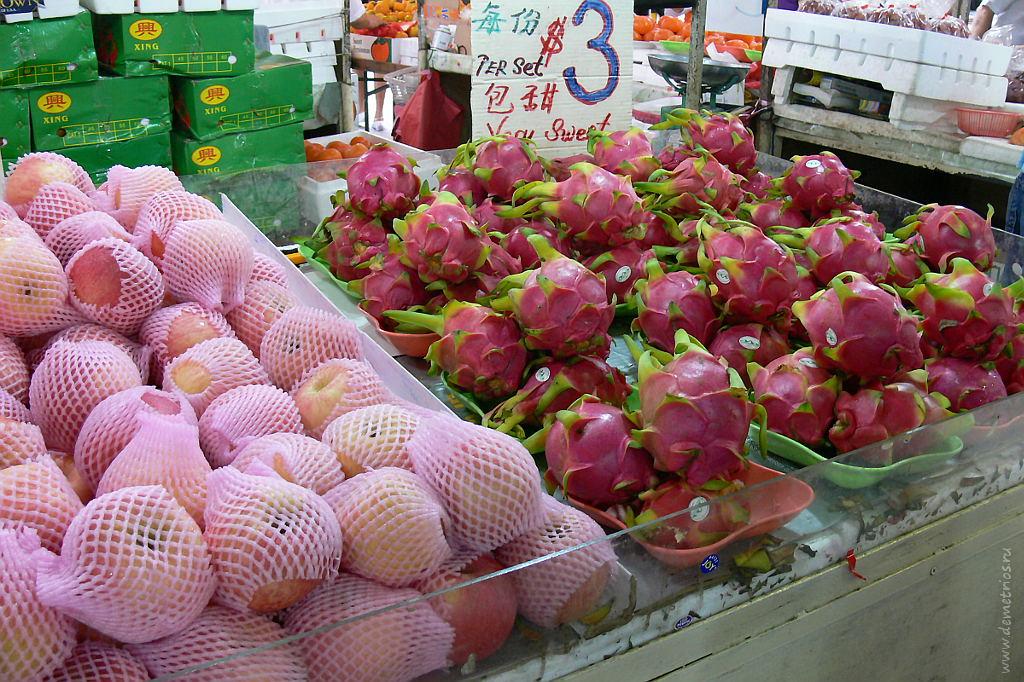Сингапур, базар, фрукты. Singapore market, fruits
