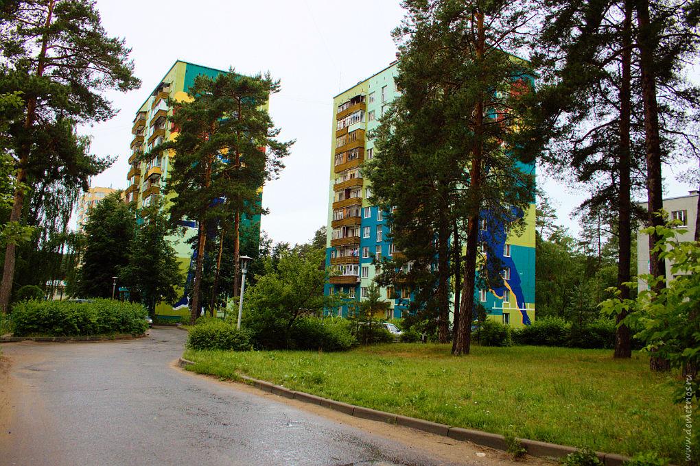 Красочные дома в Протвино