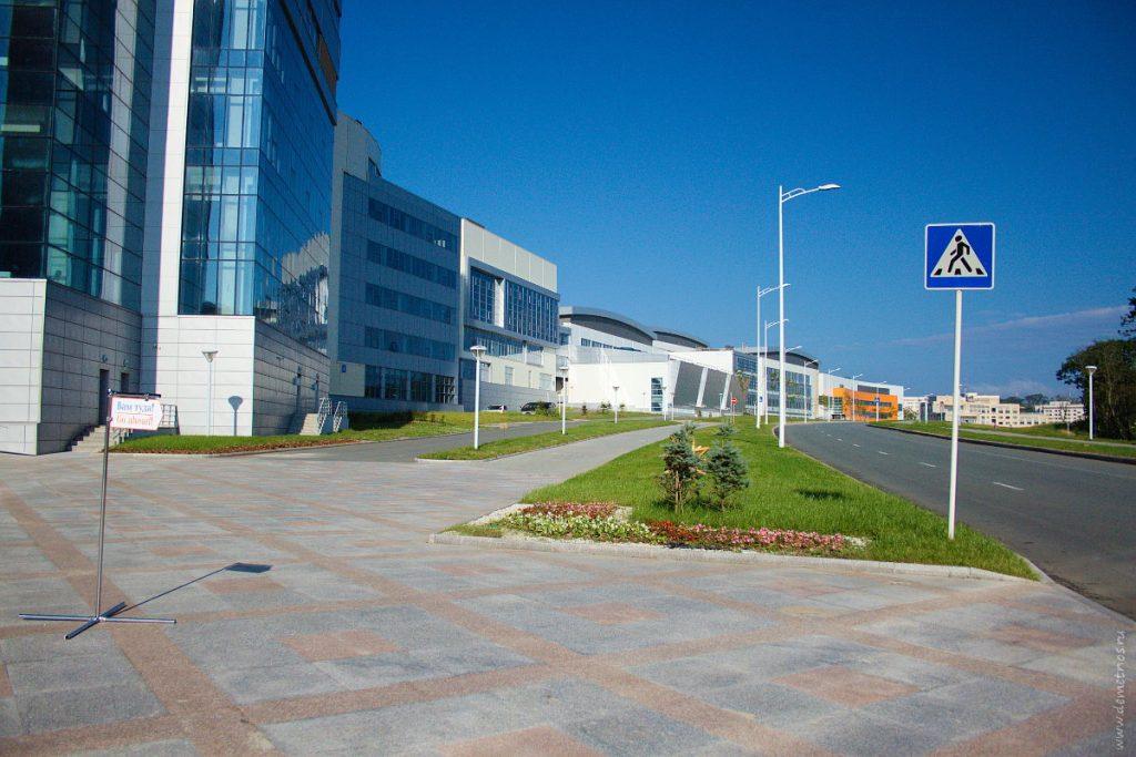 Пешеходные и автомобильные дороги в кампусе ДВФУ, FEFU, Vladivostok